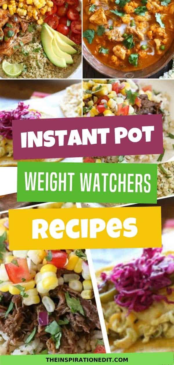 instant pot weight watchers recipes