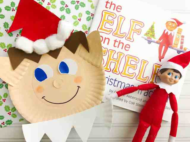 elf on the shelf craft for kids using a paper plate
