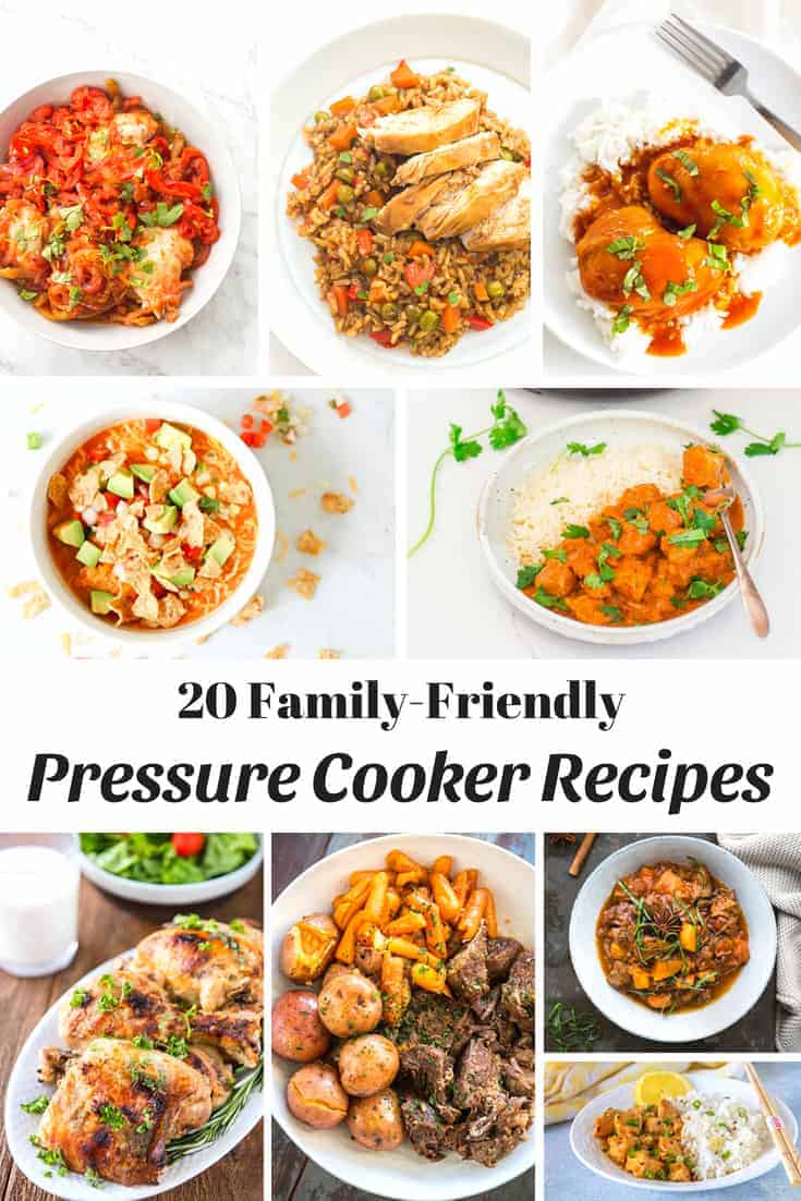 20 Family Friendly Pressure Cooker Recipes - Pinterest 1
