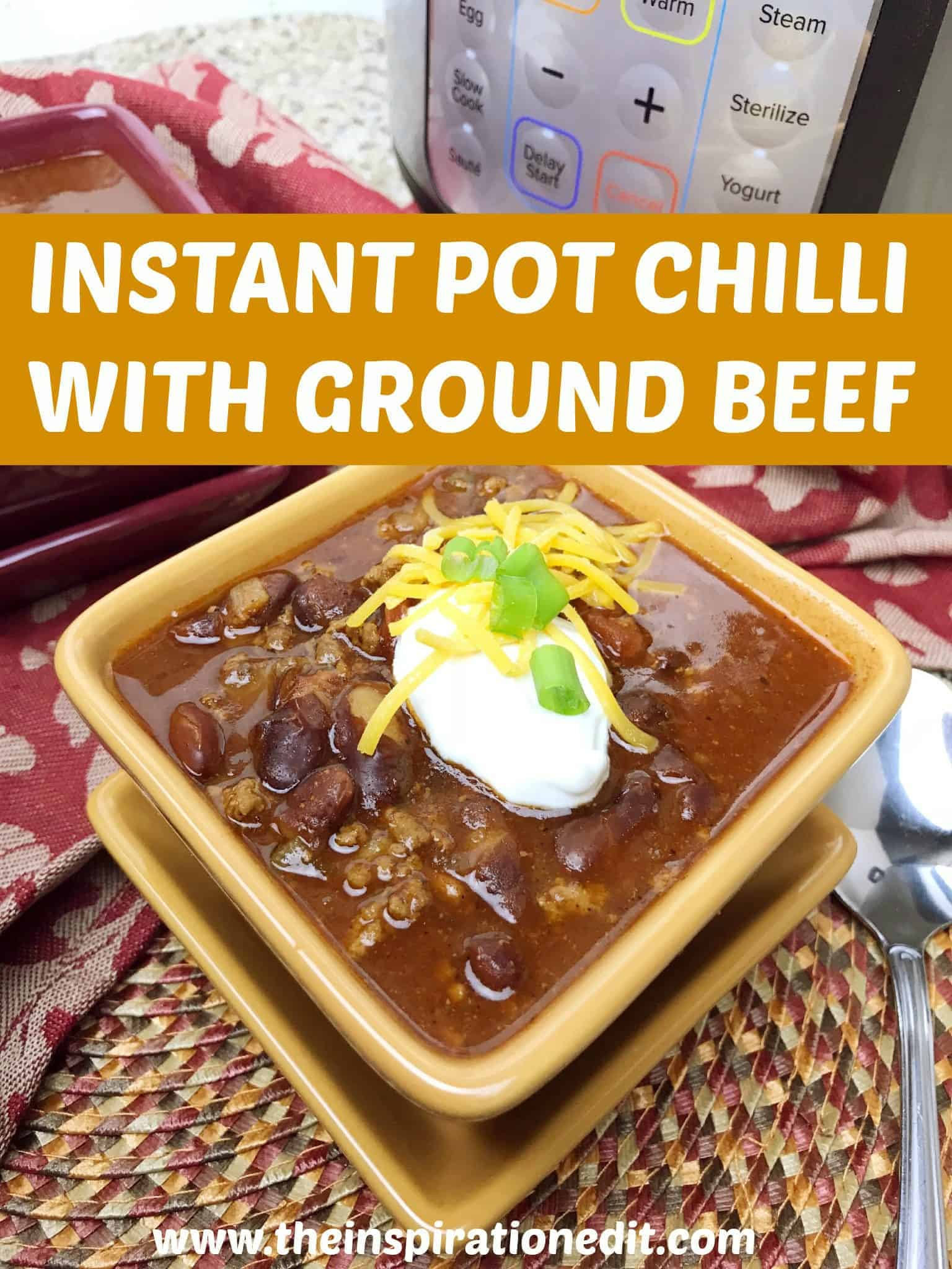 This Instant Pot Chili recipe will be a hit in your house!