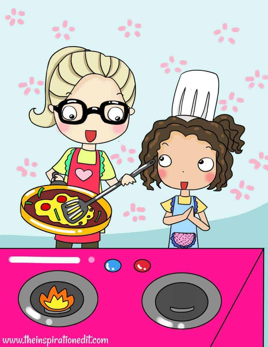 What age can a child cook over the stove