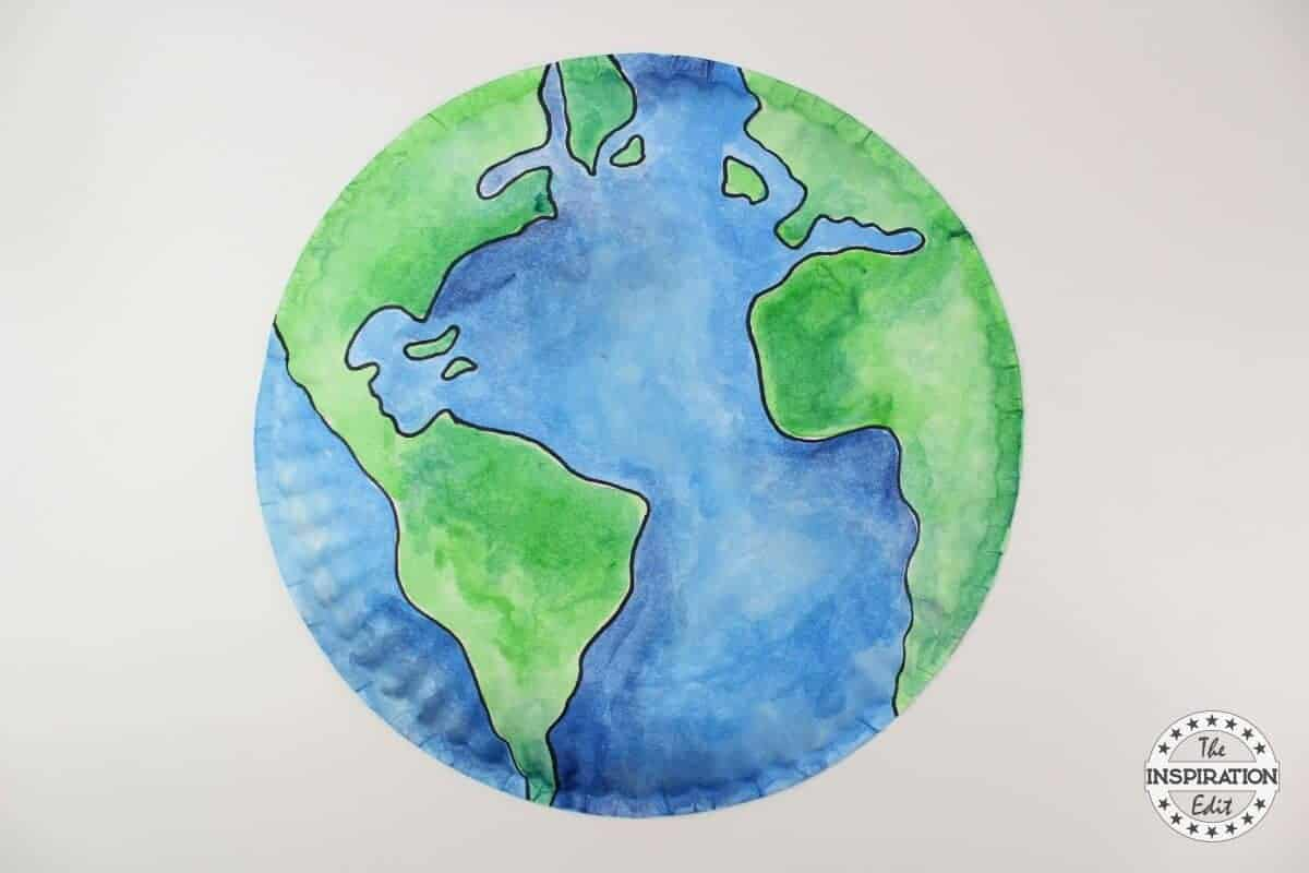 Paper Plate Earth Craft Kids Will Love The Inspiration Edit