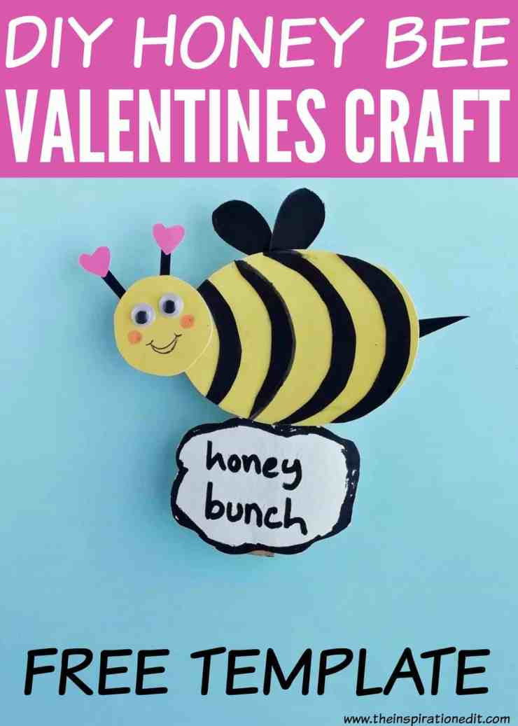 pin  - DIY Honey Bee Craft Idea For Valentines