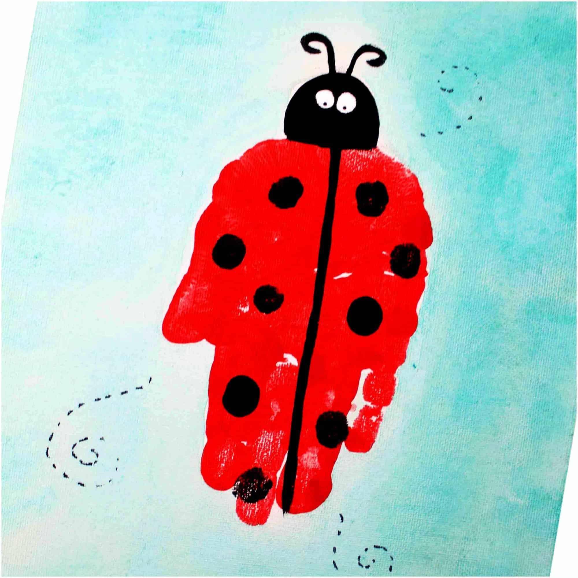 Ladybug Handprint Art For Preschool Kids The Inspiration