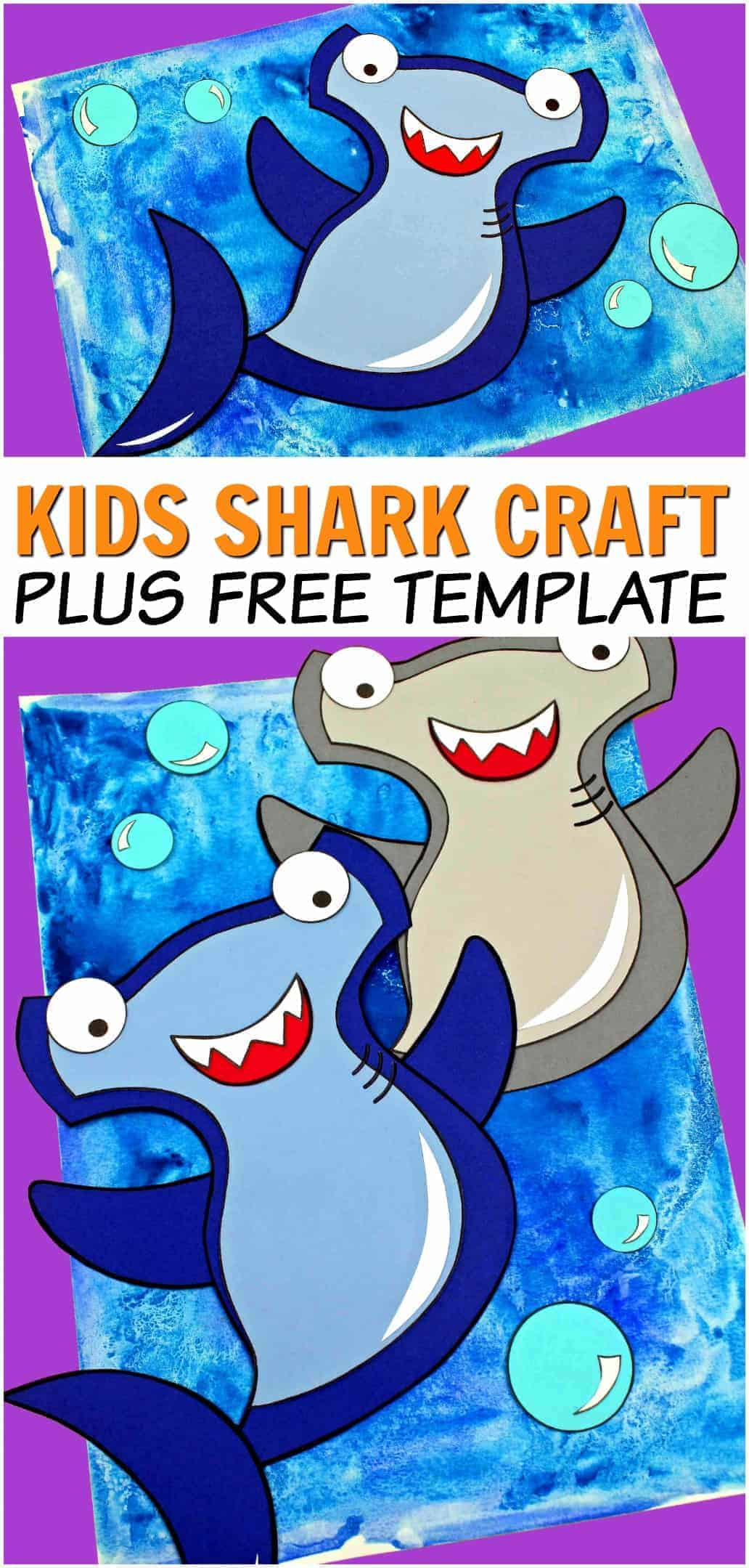 Hammer Head Shark Craft For Kids The Inspiration Edit