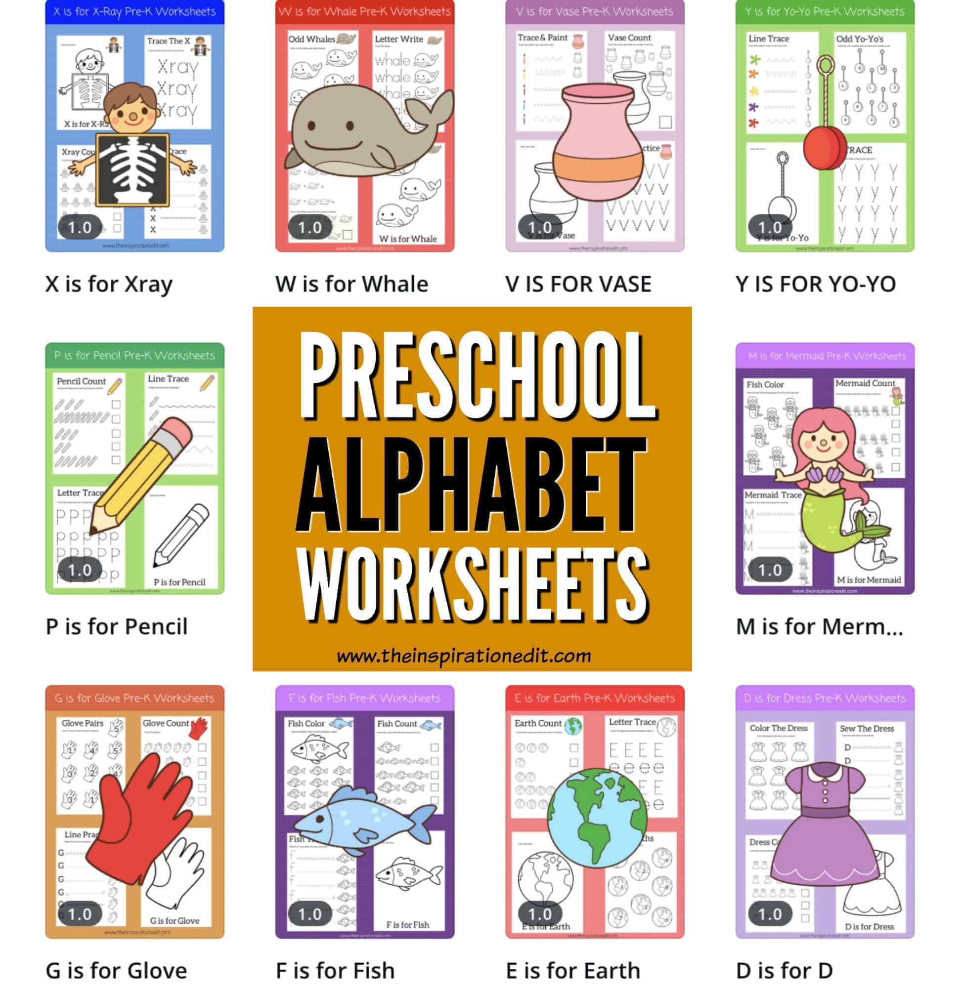 Free Alphabet Worksheets For Preschoolers The Inspiration Edit