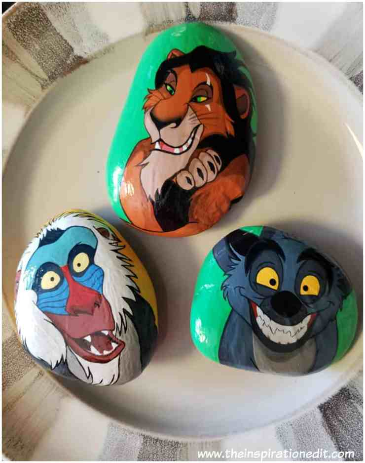 LION KING 2 - Lion King Painted Rock Stones By Carly S