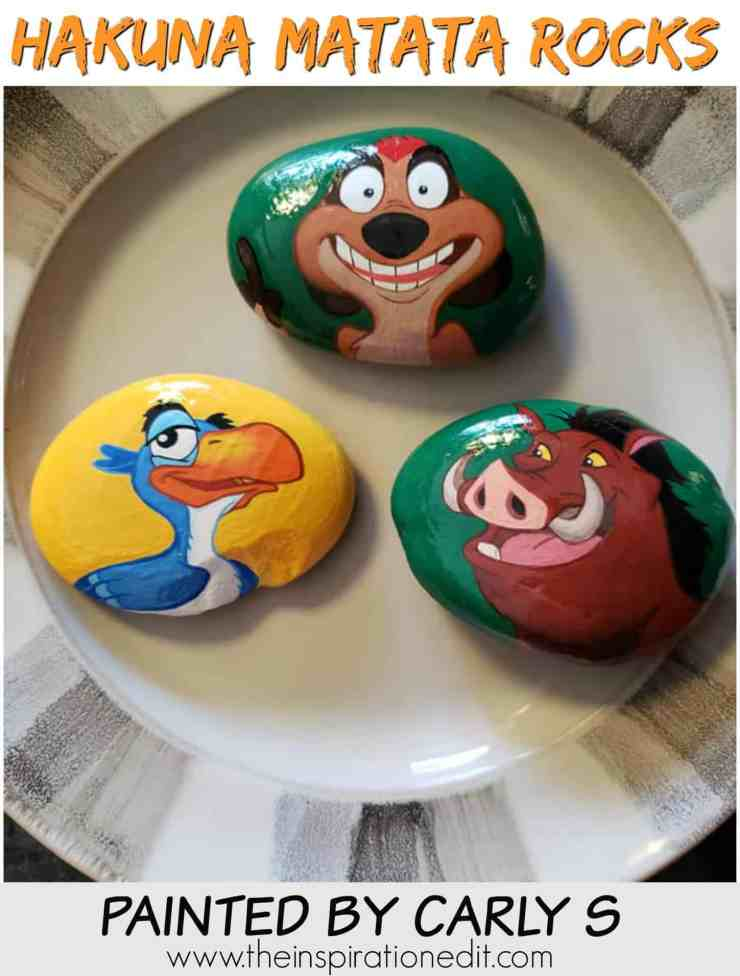 ONE 2 1 - Lion King Painted Rock Stones By Carly S