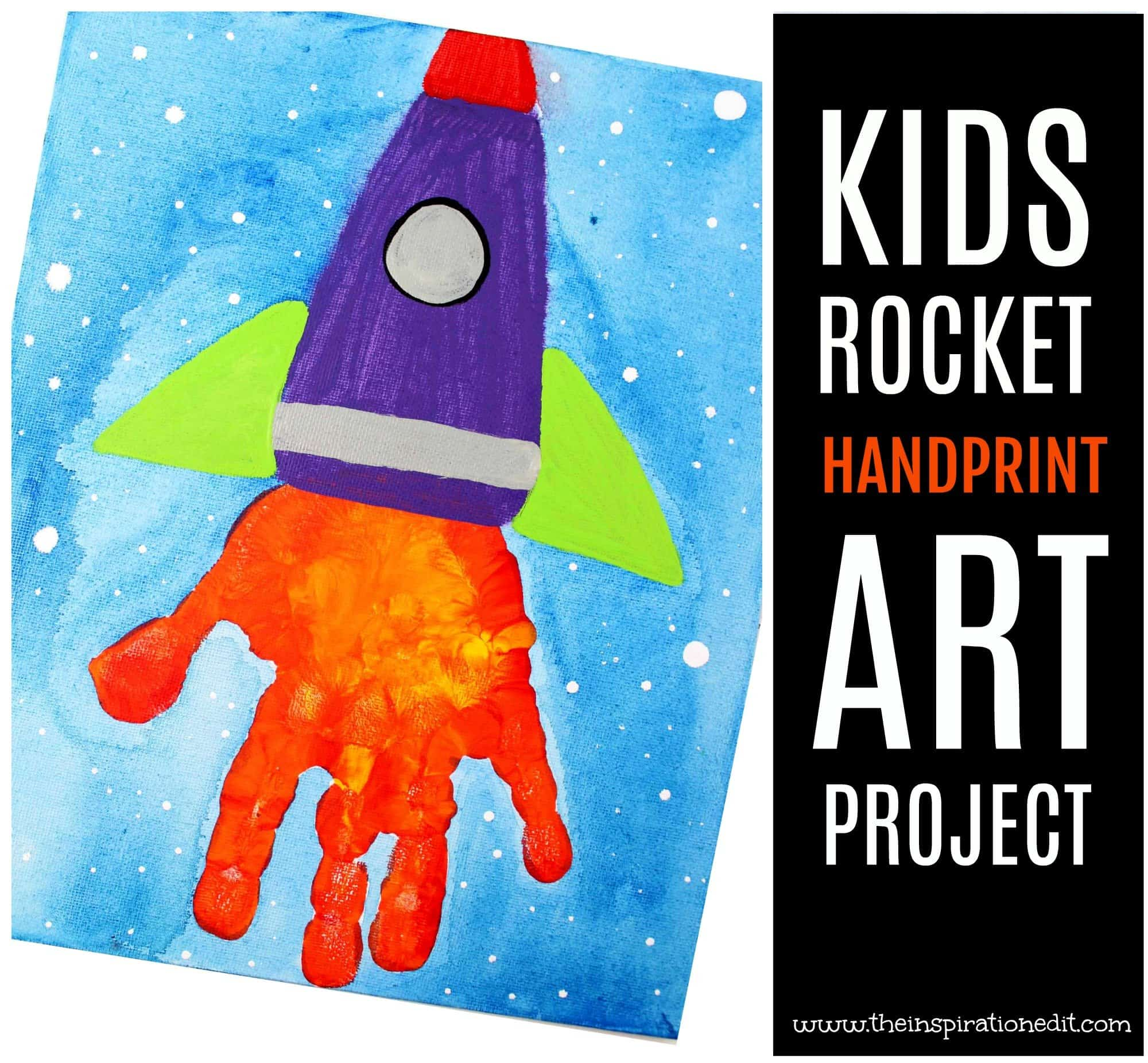 Handprint Art Space Rocket Craft The Inspiration Edit