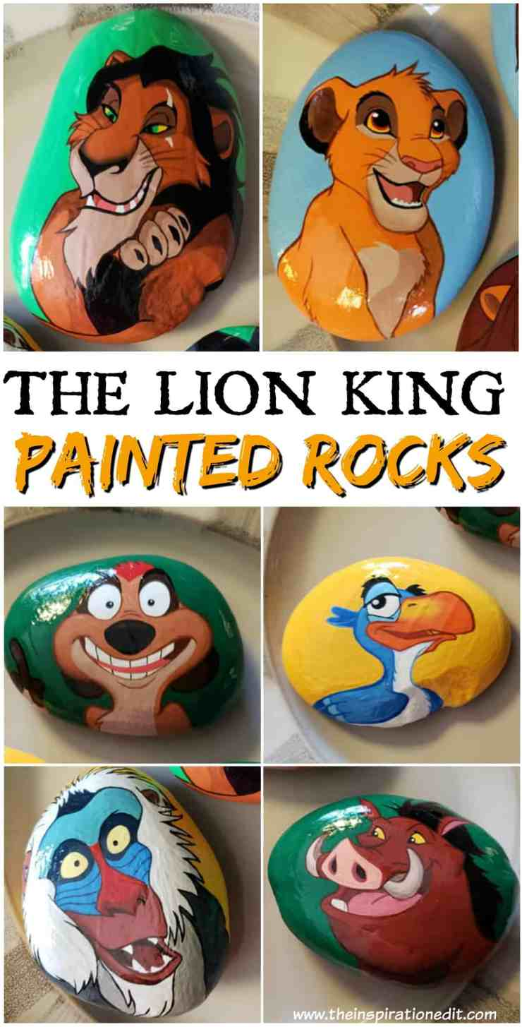 lION kING 1 - Lion King Painted Rock Stones By Carly S