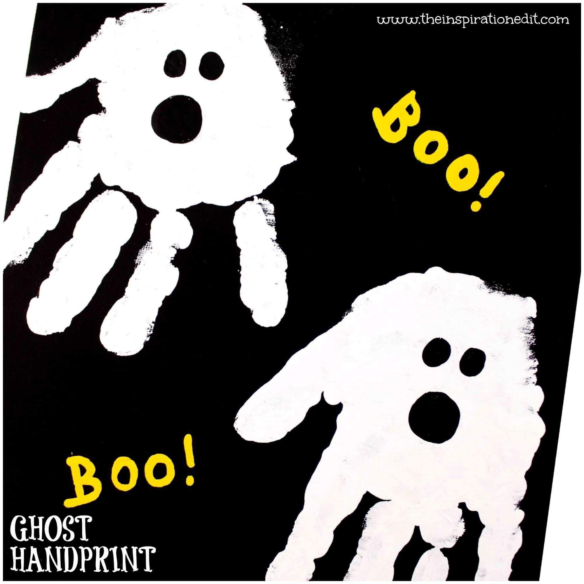 Halloween Hand Print Craft For Preschool Kids The