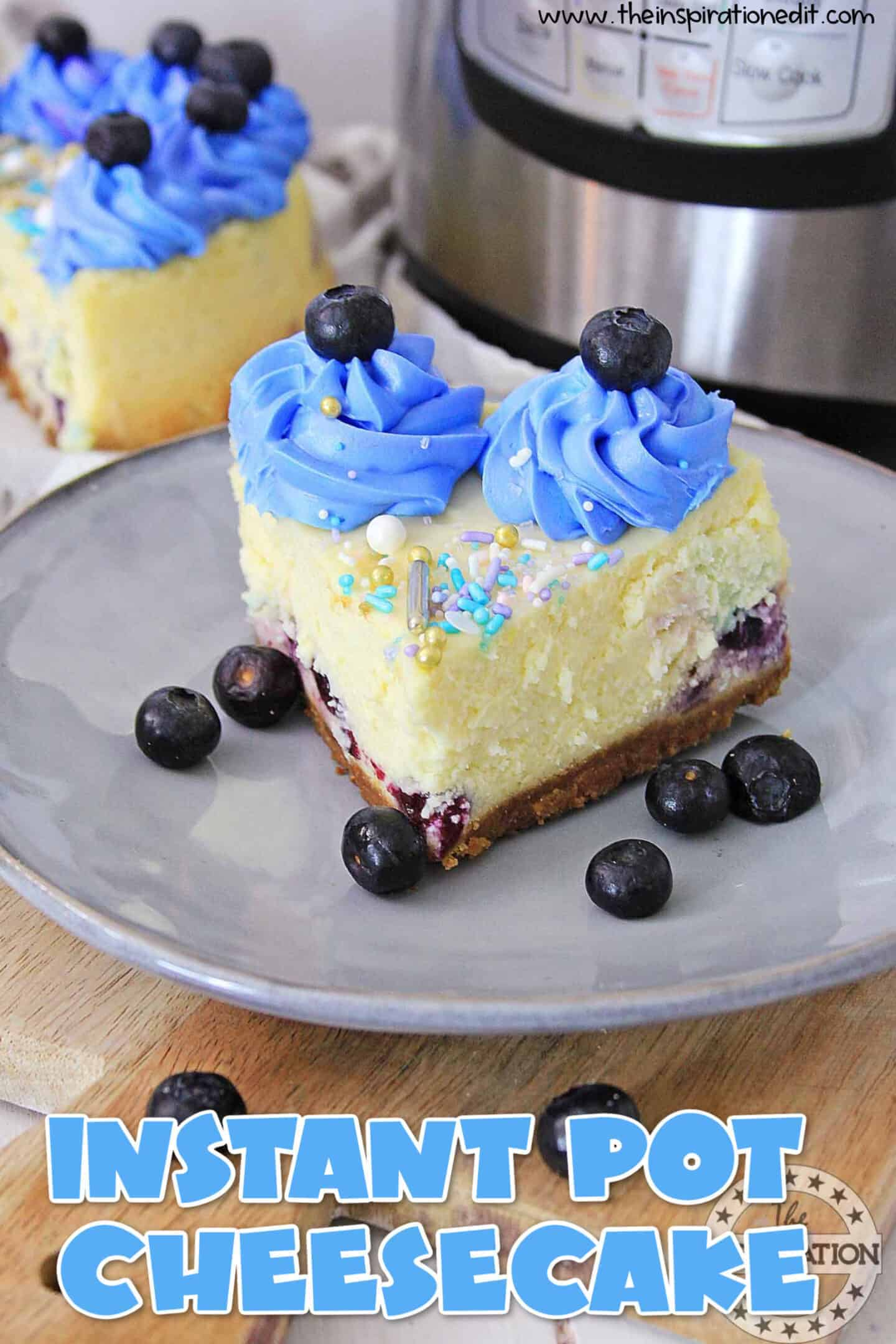 Instant Pot Blueberry Cheesecake