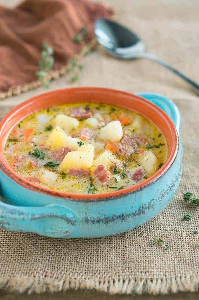 ham and potato soup instant pot recipe