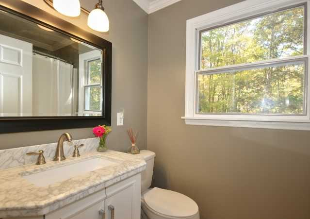 renovated hall bathroom