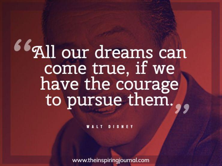 walt disney quotes about success