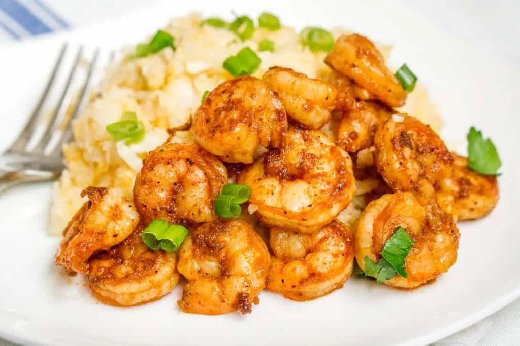 Instant-Pot-Keto-Cajun-Shrimp-Cauliflower-Grits