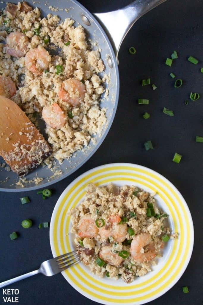 Instant-Pot-low-carb-shrimp-fried-rice