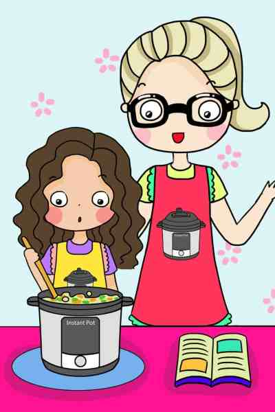 cooking in the instant pot cartoon