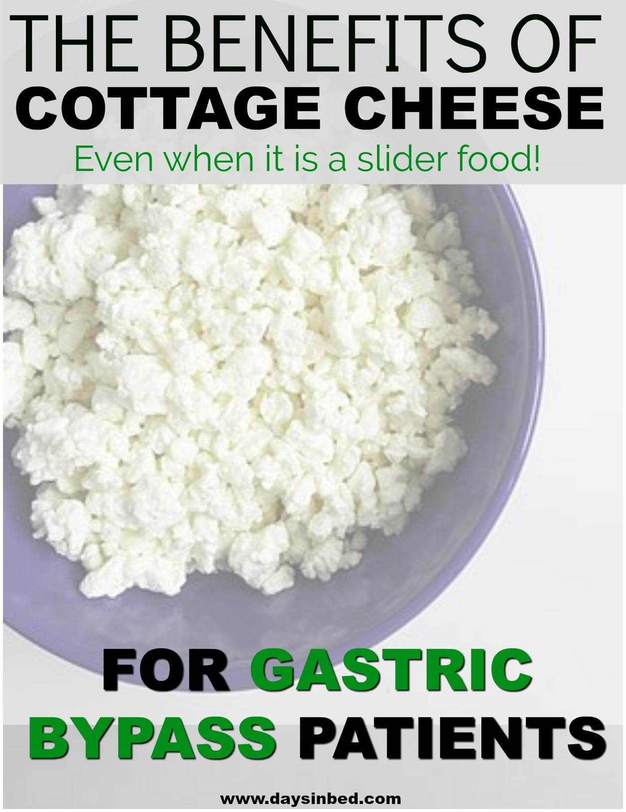 is cottage cheese a slider food and the benefits of protein for gastric bypass patients image of cottage cheese in a bowl