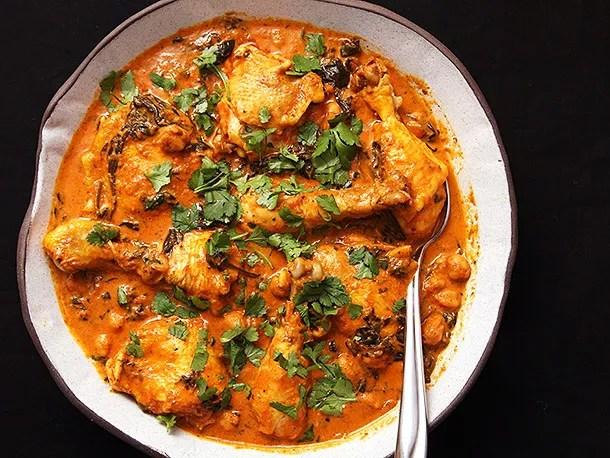 pressure-cooker-chicken-chickpea-spinach-masala-recipe