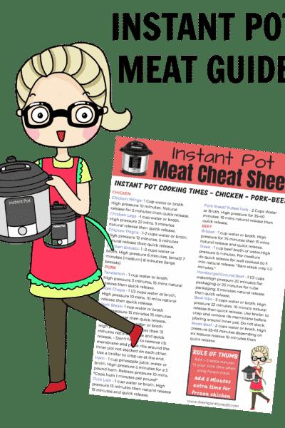 instant pot meat cheat sheet
