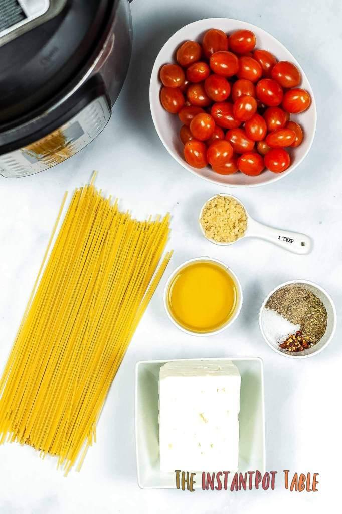 Viral Instant Pot Tik Tok Feta Pasta Supplies