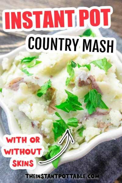 instant pot country mash potatoes