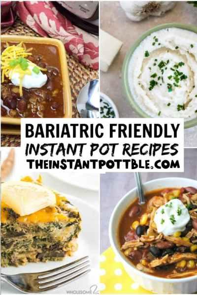 Bariatric friendly instant pot recipes