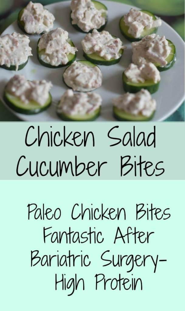 chicken-cucumber bites