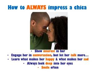 How To Impress A Chic