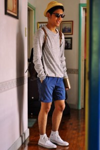 Short Shorts with Converse