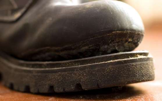 Torn old shoe