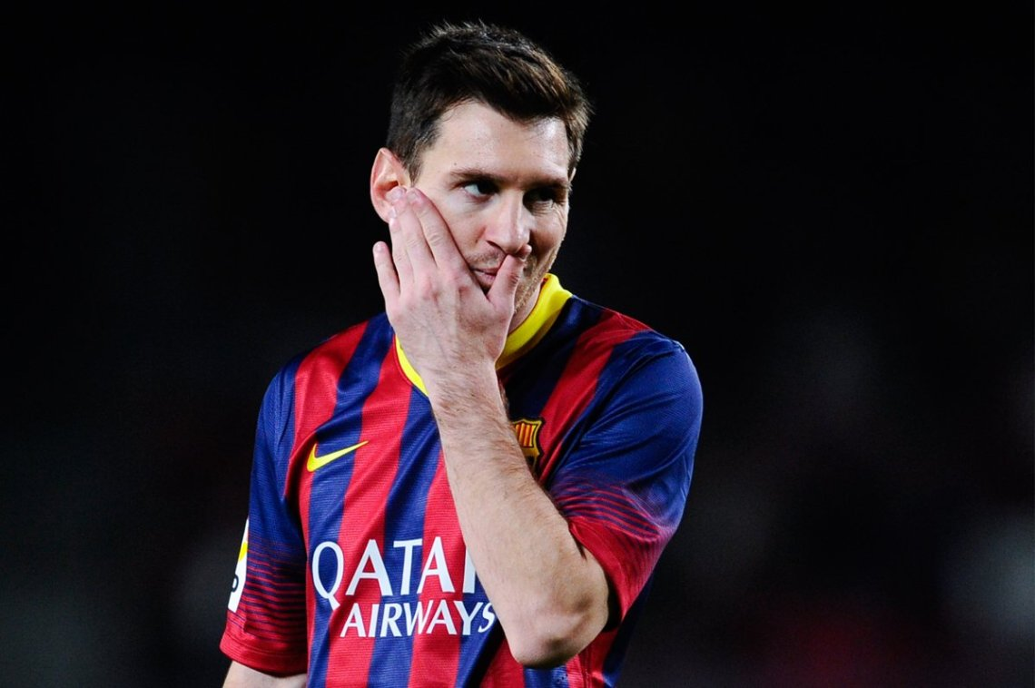 Frustrated Messi