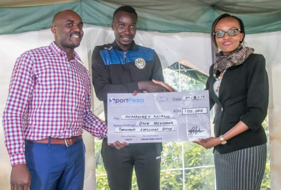 Sportpesa awards Humphrey Mieno 100k for scoring in Allstar game