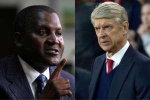 If I buy Arsenal I'll fire Wenger, Aliko Dangote