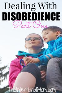 Dealing with Disobedience (Part One)