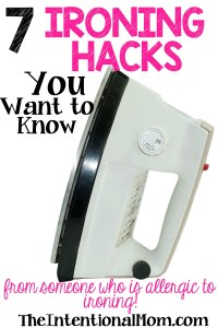 7 Ironing Hacks You Want to Know (from someone who is allergic to ironing!)