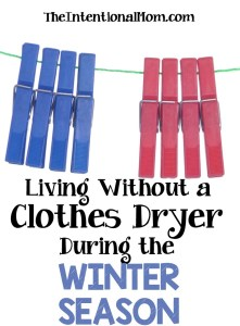 Living Without a Clothes Dryer During the Winter Season