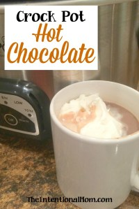 Crock Pot Hot Chocolate Using Only 3 Ingredients