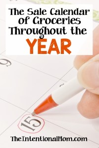 The Sale Calendar of Groceries Throughout the Year