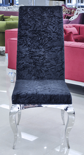 Tricase Modern Dining Chair Upholstered In Crushed Black