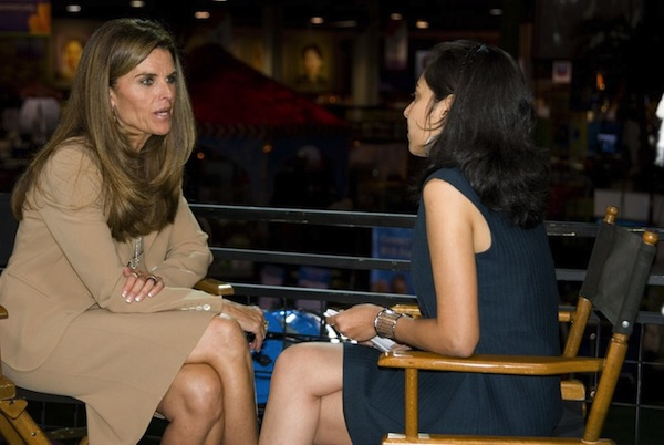 Mridu interviewing Maria Shriver