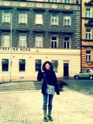Prague waving