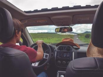 driving on road trip