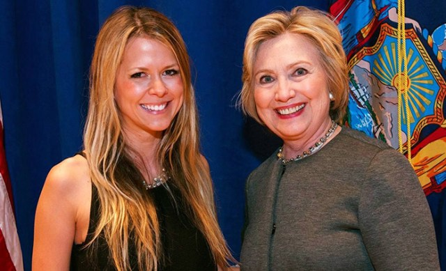 Gesche Haas and 2016 Presidential Candidate Hillary Clinton