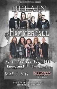 Delain & Hammerfall co-headlining tour 2017 - May 5 at Rickshaw @ Rickshaw Theatre        
