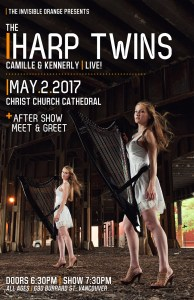 The Harp Twins: Camille and Kennerly. May 2 in Vancouver. All Ages @ Christ Church Cathedral Vancouver |  |  |