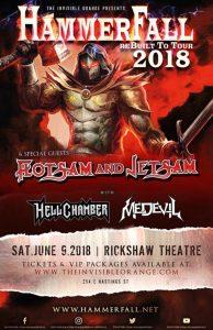 Hammerfall / Flotsam and Jetsam @ Rickshaw Theatre | Vancouver | British Columbia | Canada