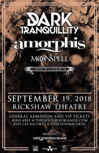 DARK TRANQUILLITY / AMORPHIS / MOONSPELL / OMNIUM GATHERUM :: Rickshaw Theatre @ Rickshaw Theatre | Vancouver | British Columbia | Canada