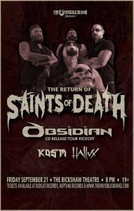 SAINTS OF DEATH / OBSIDIAN :: Rickshaw Theatre @ Rickshaw Theatre | Vancouver | British Columbia | Canada